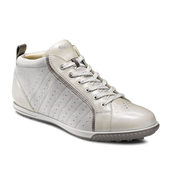 Ecco Ladies Golf Life Street Lace Spikeless White/White/Steel