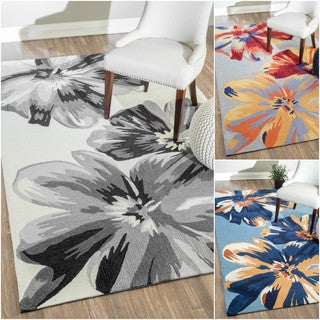 nuLOOM Handmade Modern Floral Multi Rug (5' x 8')