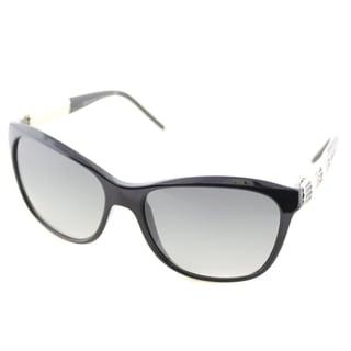 Bvlgari Women's BV 8104 901/11 Black Plastic Soft Cat-eye Sunglasses