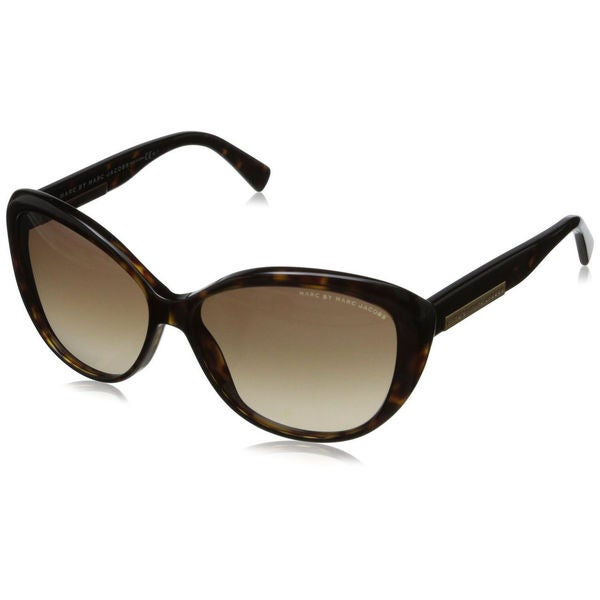Marc by Marc Jacobs Women's MMJ 443 086 Dark Havana Plastic Cat-eye Sunglasses