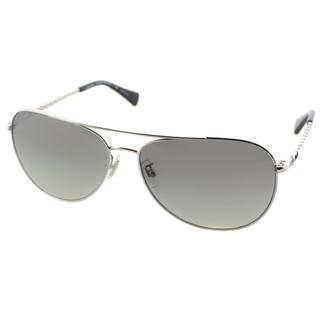 Coach Women's HC 7045 L085 Bree 918811 Silver/ Black Metal Aviator Sunglasses