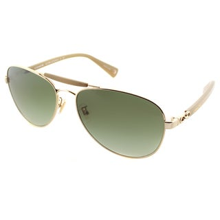 Coach Women's HC 7041 L078 Alton 91748E Gold/ Ecru Metal Aviator Sunglasses