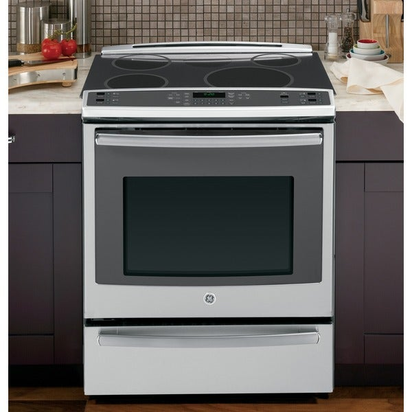 GE Profile 30 Inch Slide-In Electric Self-Cleaning Induction Convection Range with Warming Drawer
