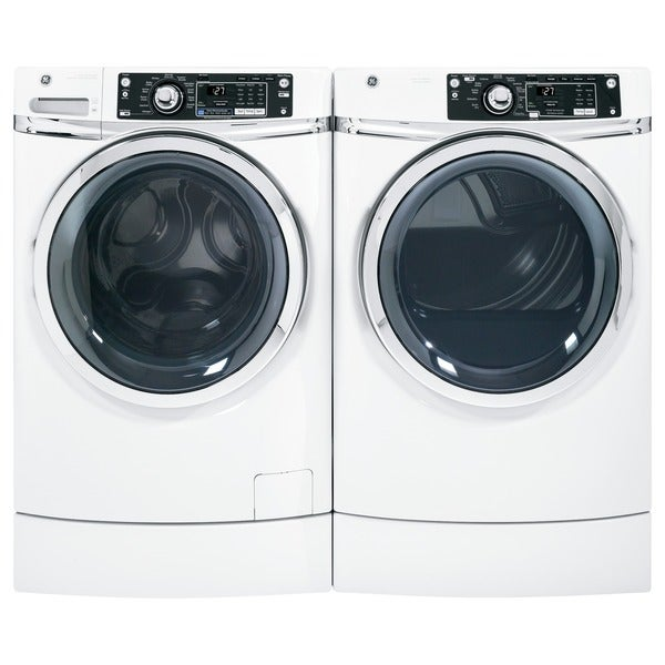 GE White 4.5 Cubic Feet Front Load Laundry Pair