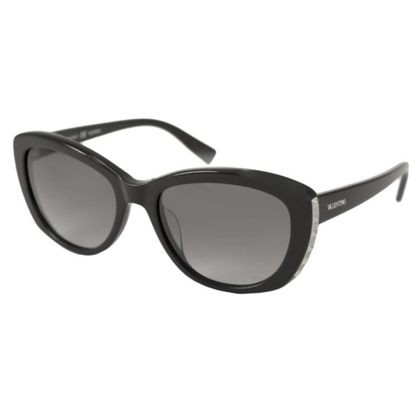 Valentino Women's V649S Black Cat-Eye Sunglasses