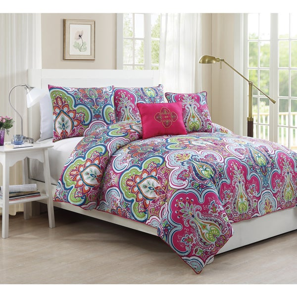 Avondale Manor Chester 5-piece Printed Comforter Set