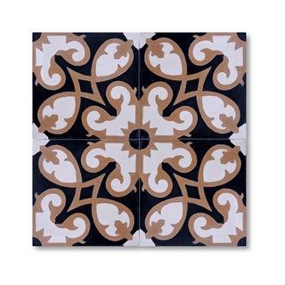 Pack of 12 Fabulous Agadir Handmade Cement/ Granite Moroccan Tile 8-inch x 8-inch Floor/ Wall Tile (Morocco)