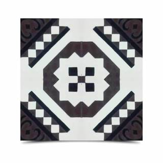 Pack of 12 Bouman Black/ Brown Handmade Cement/ Granite Moroccan Tile 8-inch x 8-inch Floor/ Wall Tile (Morocco)
