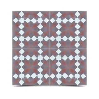 Pack of 12 Joana Grey/ Brown Handmade Cement/ Granite Moroccan Tile 8-inch x 8-inch Floor/ Wall Tile (Morocco)