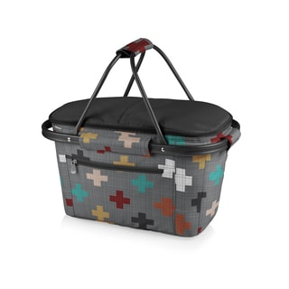 Picnic Time Pixels Collection Market Basket Collapsible Tote