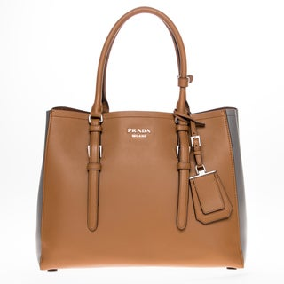 Prada City Calfskin Bicolor Tote Bag