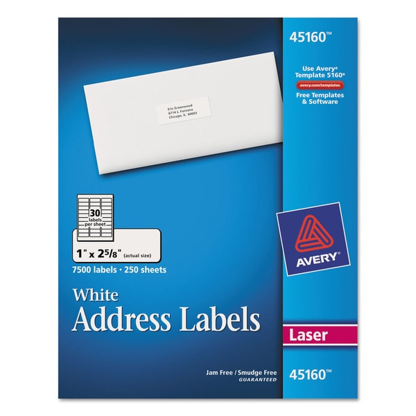 Avery White Address Labels