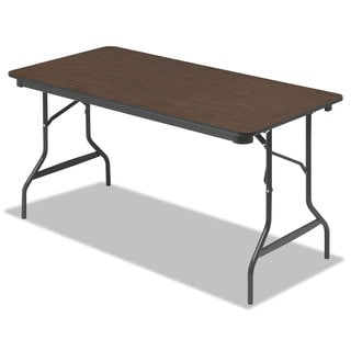 Iceberg Economy Walnut Wood Laminate Folding Table