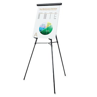 Universal Black 3-Leg Telescoping Easel with Pad Retainer