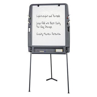 Iceberg Charcoal Portable Flipchart Easel With Dry Erase Surface