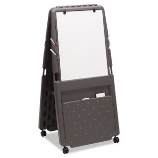 Iceberg Charcoal Presentation Flipchart Easel With Dry Erase Surface
