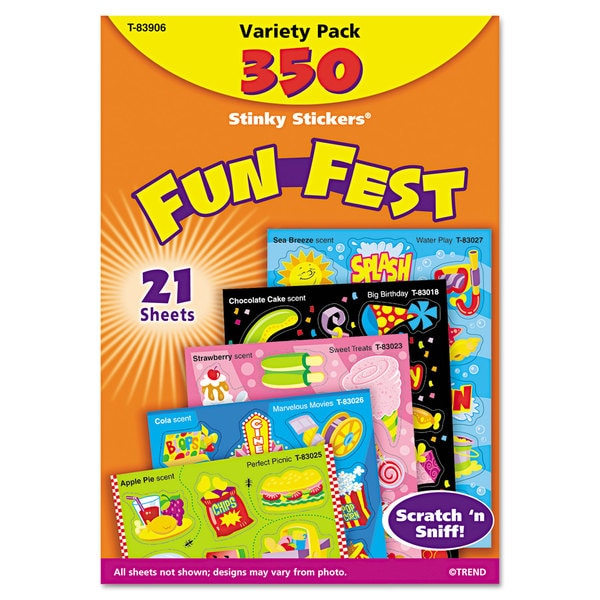 TREND Stinky Stickers Variety Pack (2 Packs of 350 Stickers)