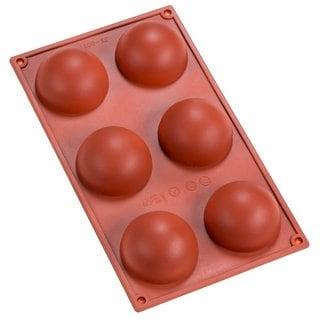 6-cavity Silicone Half Sphere Mold