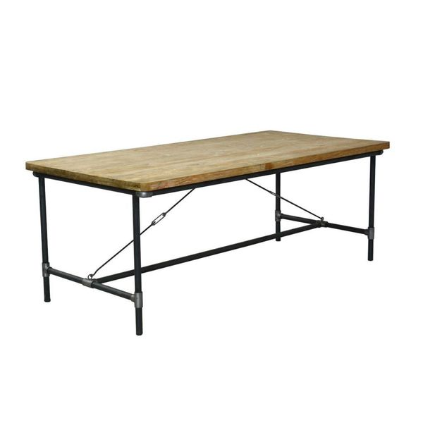 Olathe Modern Tan Rectangle Dining Table 17266566