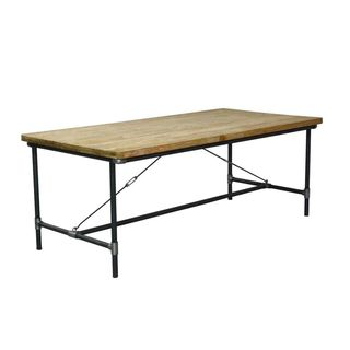 Olathe Modern Tan Rectangle Dining Table