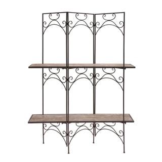"Wood and Metal Screen Display Shelf (70x49'"")"