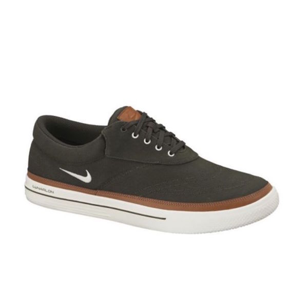 Nike Men's Lunar Swingtip Canvas Dark Loden/ Brown Golf Shoes