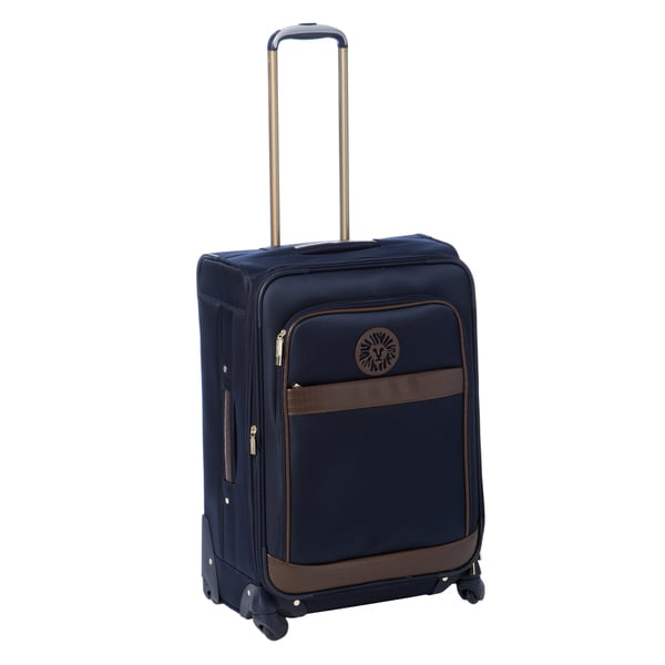 Anne Klein Navy Newport 24-inch Expandable Spinner Upright Suitcase