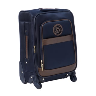 Anne Klein Navy Newport 20-inch Expandable Carry On Spinner Upright Suitcase