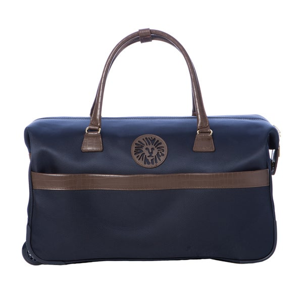 Anne Klein Navy Newport 12-inch Rolling City Duffel Bag
