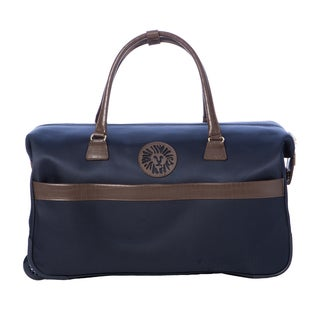 Anne Klein Navy Newport 21-inch Carry On Rolling City Duffel Bag