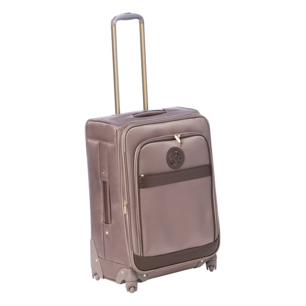 Anne Klein Taupe Newport 24-inch Expandable Spinner Upright Suitcase