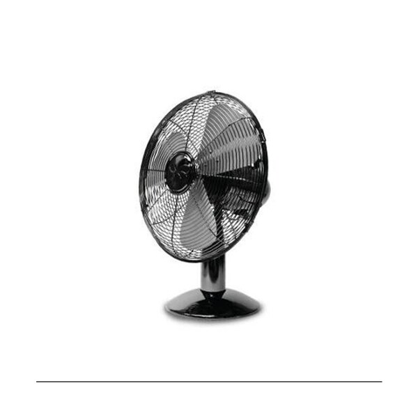 Soleus Air FT-30-A 12-Inch Retro Black Chrome Table Fan