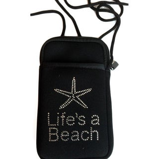 Luggage Spotter Pami Pocket Jeweled 'Life's A Beach' Neoprene Smartphone Purse