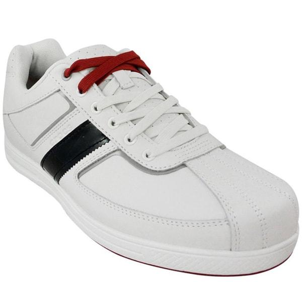 Crocs Men's Tyne Lo Pro Golf White/True Red Shoes
