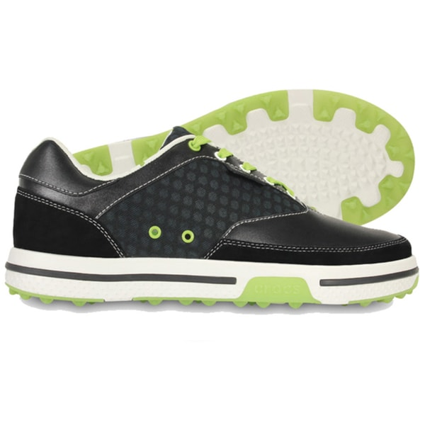 Crocs Men's Drayden 2.0 Golf Black/Volt Green Shoes