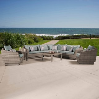 Cannes 9-Piece Corner Sectional and Club Chair Seating Group by RST Brands