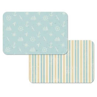 Nautical Pattern Reversible Decofoam Placemats (Set of 4)