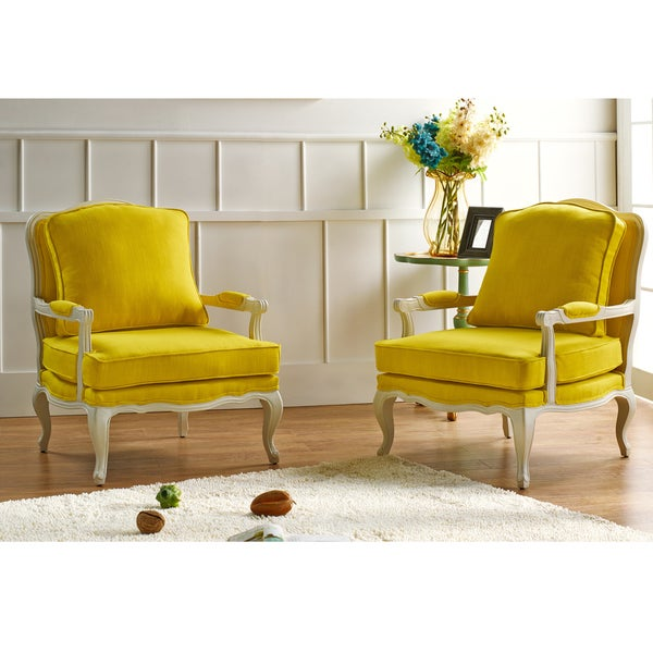 Antoinette Traditional Classic Antiqued French Yellow