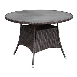 Portfolio Aldrich Brown Indoor/Outdoor Round Dining Table