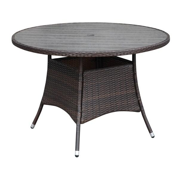 Portfolio Aldrich Brown Indoor/Outdoor Round Dining Table - 17266705 ...
