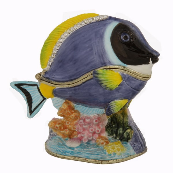 Blue Tang Fish Trinket Box