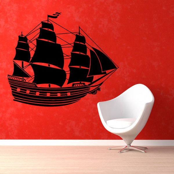 Pirate Ship Vinyl Sticker Wall Art