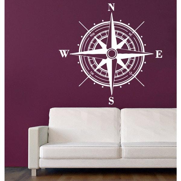 Rose Compass Vinyl Sticker Wall Art 15373328