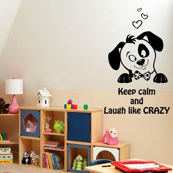 Keep Calm Puppy Vinyl Sticker Wall Art