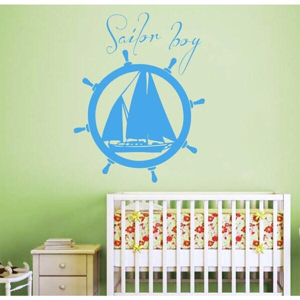 Sailor Boy Nautical Vinyl Sticker Wall Art