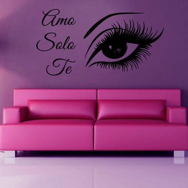 Amo Solo Te Sexy Eye Make Up Vinyl Sticker Wall Art