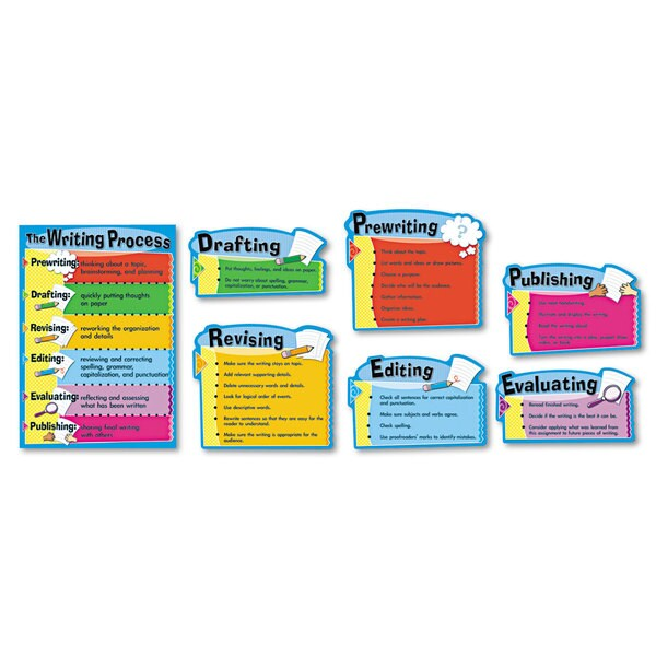 Carson-Dellosa Publishing The Writing Process Bulletin Board Set