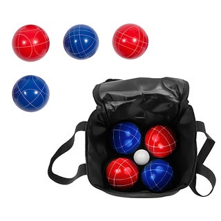Trademark Innovations Bocce Ball Premium Set with Carry Case