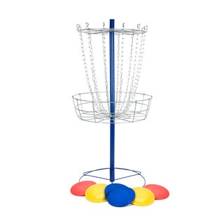 Metal Disc Frisbee Golf Goal Set with 6 Discs