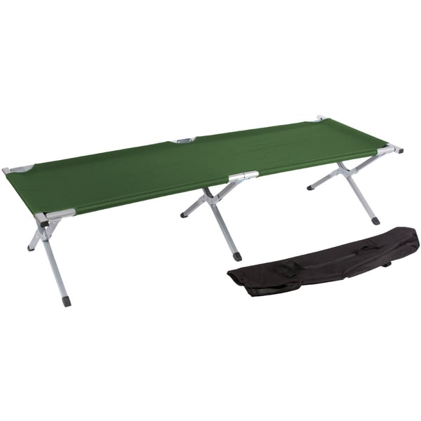 Trademark Innovations Portable Folding Camping Bed and Cot (Army Green)